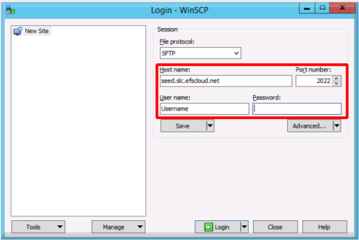 Preload using SFTP – Axcient